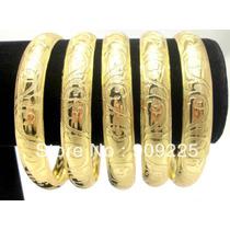 Set De 3 Pulseras Chapa Oro Bangle De Moda Envio Gratis