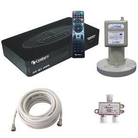 Kit Multiponto Midiabox B3 Hd Globo+lnbf+divisor+cabo Coaxia