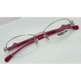 Armação De Óculos De Grau Kipling Kp1039 Rosa E Azul