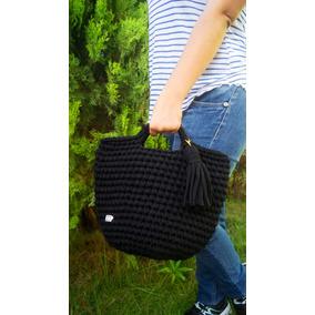 Cartera Negra Tejida, Bolsos Crochet