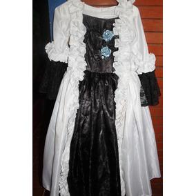Vestido Catrina Usado Bordadocon Liston/ Chaquira Talla8-10