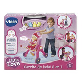 Carrito De Bebe 3 En 1 Little Love Original Vtech