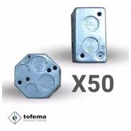 Cajas Rectangular / Octogonal De Chapa Combo X50 - Tofema.