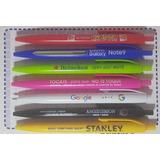 100 Lapiceras Bolígrafos Personalizados Con Logo Full Color