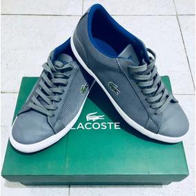 Tenis Lacoste Originales (color Gris Con Blanco).