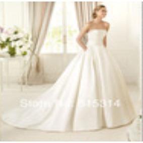 Vestido De Noiva Bordado Tomara Que Caia Com Véu