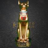 Gato Egípcio Bastet Deus Fertilidade Decoração Estatueta