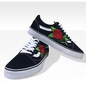 Tênis Vans Old Skool Skate Feminino Bordado Original