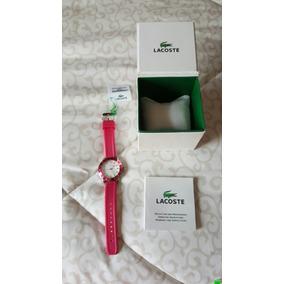 Reloj Lacoste Original Hermoso Rosa-fiusha