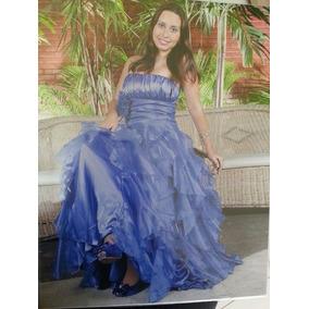 Vestido De Festa Azul Royal Cinderela