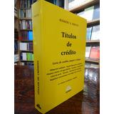 Escuti Títulos De Crédito. 11º Edición/ultima 2016