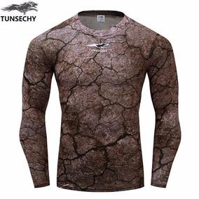 Camiseta Camisa 3d Fitness Compressão Roupas De Ginástica