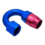 Acople Conexión 180° An8 Azul Rojo Ftx Fueltech