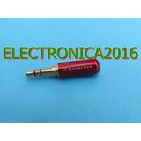 Plug Conector Audiofono 3.5mm 3 Terminales Metalico