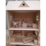 Casa Barbie Fibrofacil Combo Con Muebles