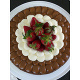 Brownie, Dulce De Leche, Crema Chantilli Y Frutillas!