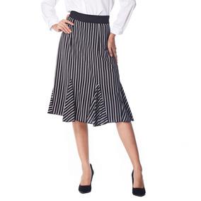 Vestido De Mujeres Falda De Cola De Pez A Rayas Kenancy