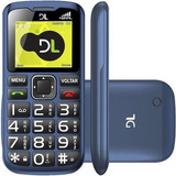 Telefone Celular Dl 120 2 Chips Original Botões Grandes E Fm