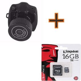 Mini Camera Espia 720p Hd Camuflada Sem Fio + Cartao Sd 16g