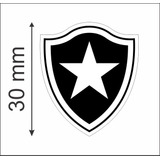 Botafogo Fluminense Flamengo Vasco 63 Adesivos 3cm Laser