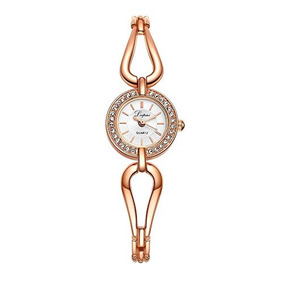 Lvpai Womens Small Round Wrist Watch For Dress Rose Gold Cry