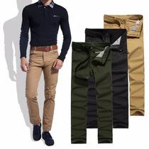 Calça Masculina Jeans Sarja Skinny Masculina Slim Fit Lycra