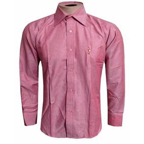Camisa Social Ralph Lauren Cinza Lisa Masculina Rl104