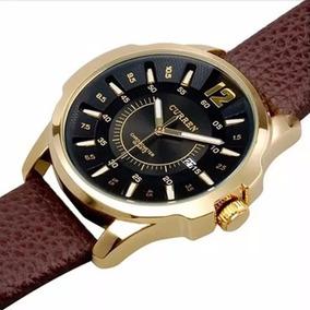 Relógio Luxo Masculino Curren Pulso Social Pulseira Couro