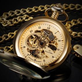 Reloj De Bolsillo Kronen & Sohne Enchapado Oro C/ Cadena