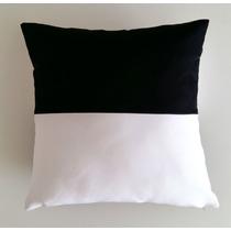 Capa De Almofada Bicolor Preta E Branca