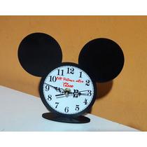 Reloj Mickey Souvenirs Personalizado X 10 Unidades