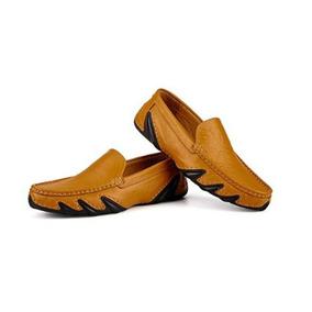 Zapatos Mocasines Italianos En Cuero / Única Talla 40
