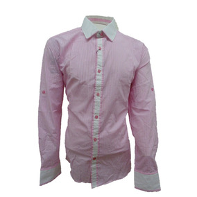 English Laundry Camisa Casual Caballero Rosa Manga Larga