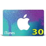 Itunes Gift Card Original Código Valor 30 Usd Usa