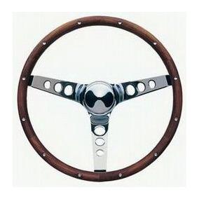 Volante Clasico Subvención 15-inch Madera Y Aluminio Chevy