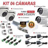 Kit Hikvision 4 Cámarascamaras