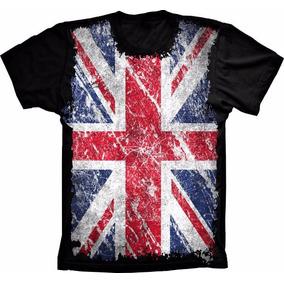 Camiseta Bandeira Pais Inglaterra Flag England Camisa Adulto