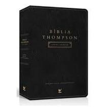 Bíblia Thompson De Estudo Luxo Preta Letra Grande Frete Grat