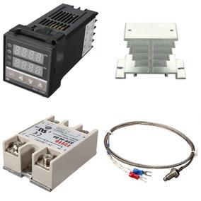 Pirometro Control De Temperatura Pid Rex-c100 + Termopar