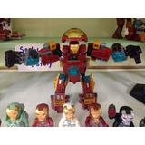 Hulkbuster + 8 Armaduras Iron Man Compatibles Lego Env Grat