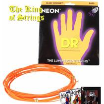 Encordoamento P/ Baixo De 5 Cordas Dr Neon - Laranja .40