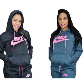 Conjunto Moletom Nike Feminino Com Capuz Moleton Casaco