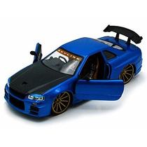 2002 Nissan Skyline Gt-r, Azul W / Negro Capucha - Jada Toy