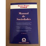 Manual De Sociedades Vitolo,daniel Roque 2017