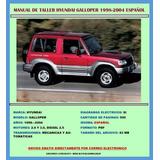 Manual De Taller Reparación Hyundai Galloper 1998-2004