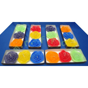 Velas Flotantes Aromaticas Modelo Rosas Caja Con 3 Pzas