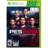 ¡ Pro Evolution Soccer Pes 2018 Para Xbox 360 En Wholegames!