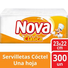 Servilleta Nova Clasica 22x23cm Para Coctel 300 Unidades