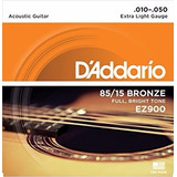 Cuerdas Guitarra Acústica Daddario Ez900 10-50 Confirma Ex *