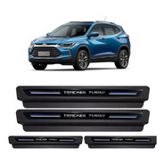 Kit Soleira Proteção Porta Chevrolet Tracker Turbo 2020 2021